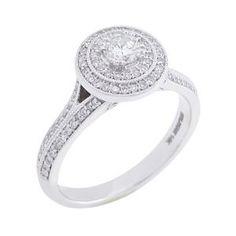 White Gold Diamond Engagement Ring 63221AA