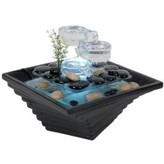 Zen Light Himalaya Fontaine d'Intérieur Noir 23 x 23 x 20 cm Water Fountain For Home, Tabletop Water Fountain, Indoor Fountain, Fountain Ideas, X 23, Indoor Tabletop Fountains, Small Fountains, Water Fountains, Indoor Waterfall