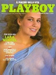 Playboy Italy February 1985 with Lara Wendel on the cover of the magazine