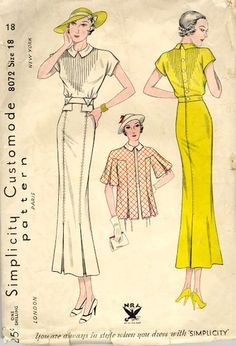 vintage 1930's fashion