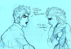 Don't Conceal! Feel! by s0alaina.deviantart.com on @deviantART   omg this is so great, Jack expresses him self everyday, in every way he can helping bringing the kids joy. while Elsa learned at an early age to conceal and hide everything she felt..... this is so perfect!!!!   <3