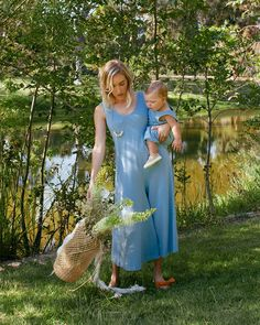 Mien Studios  A modern Mommy & Me Collection - matching Lakeside Wide Leg Jumpsuit on mama and Mini Field Trip Jumpsuit on baby www.mienstudios.com
