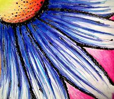 Georgia O'Keefe inspired flower