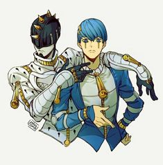 Lo del segundo comentario Fanarts Anime, Manga Anime, Anime Characters, Anime Art, Jojo's Bizarre Adventure Anime, Jojo Bizzare Adventure, Cowboy Bebop, Blue Exorcist, Jojo Stands
