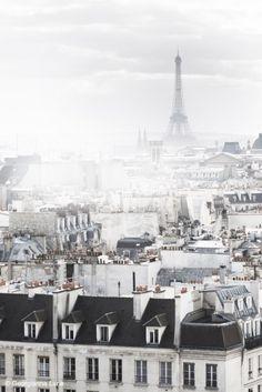 Paris in the fog.