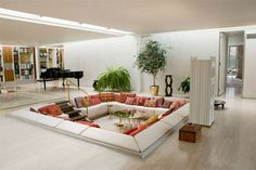 Sunken Living Room Designs: The Perfect Conversation Pits 6