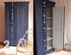 La Clamartoise: Armoire Parisienne : le come back ! Armoire Makeover, Furniture Makeover, Upcycled Home Decor, Upcycled Furniture, Big Girl Rooms, Paint Furniture, Home Staging, Decoration, Decor Diy