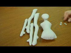 Como fazer Bailarina em tecido - montagem - parte 2