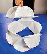Paper plates polyhedron tutorial.