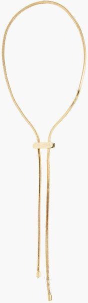 Lanvin metal bolo necklace