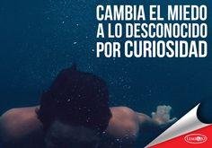 """""""Cambia el miedo a lo desconocido por curiosidad""""  #frases"""