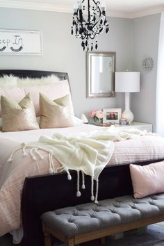 Treat yourself to a bedroom refresh for Summer! Head over to HomeGoods to see their great selection of bedding. This new set I found is a blushing beauty! Sponsored Pin