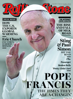 "Pope Francis is a ROCK STAR.on the Cover of Rolling Stone. ""Pope Francis' Gentle Revolution: Inside Rolling Stone's New Cover"" Papa Francisco I, Rolling Stone Magazine Cover, Friedrich Hegel, Francis I, Religion Catolica, Catholic Religion, Eric Church, Time Magazine, Magazine Covers"