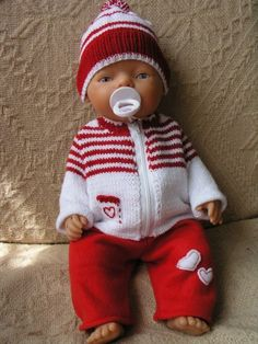 For Baby Born - gezien bij Fransina Hoekstra Knitting Dolls Clothes, Crochet Doll Clothes, Knitted Dolls, Doll Clothes Patterns, Doll Patterns, Baby Born Clothes, Girl Doll Clothes, Girl Dolls, Baby Dolls