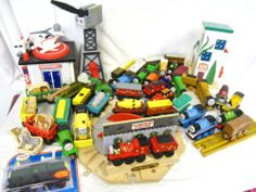 Large Brio Thomas The Tank Engine Wood Train Set w Buildings Trains Tracks 50lbs | eBay
