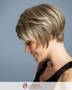 The Deluxe wig by Gabor transforms the classic short bob into a style that is infused with a bit of flirty romance. The layers offer height and depth at the crown, while the full sides blend beautiful