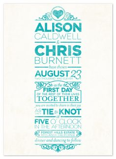 10 - Clasically Modern - really cute Save the Date idea