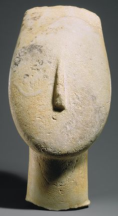 Head from the figure of a woman, ca. 2700–2500 b.c.; Early Cycladic I–II  Cycladic; Keros-Syros culture  Marble