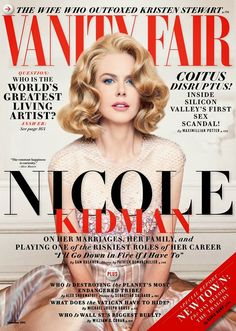 Nicole Kidman for Vanity Fair December 2013 Cover