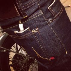 The coolest jeans in the world! Wrench Pocket - Slim Fit Maple KevlarMotorcycle Jeans