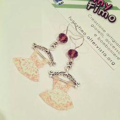 Pink dress earrings ❤️