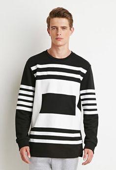 Striped Box Print Sweatshirt   21 MEN   #forever21men