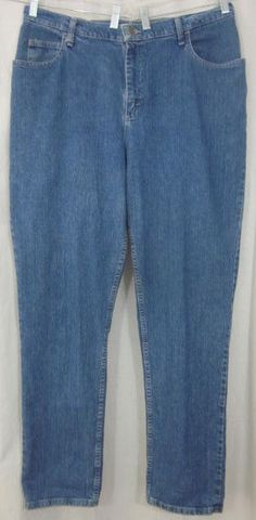 Riders Jeans Size 18W Long 36x33 1/2 Relaxed Fit Free Shipping #Riders #Relaxed