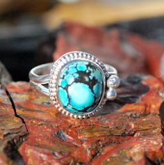 Turquoise Ring - Spiderweb Turquoise Ring - Blue Turquoise Ring - Southwestern Jewelry - Sterling Silver Ring - Size 8 Ring - Turquoise by EarthsBountyGems on Etsy https://www.etsy.com/listing/215101938/turquoise-ring-spiderweb-turquoise-ring