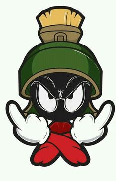 street art - illustration Marvin the Martian Más CoDesign Magazine Dailyupdated Magazine celebrating creative talent from around the world Cartoon Kunst, Cartoon Drawings, Cartoon Art, Art Drawings, Classic Cartoon Characters, Classic Cartoons, Graffiti Art, Tattoo Geek, Dessin Old School