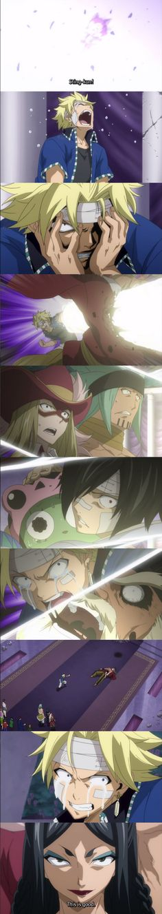 Fairy Tail Ep 176: Sting kills Jiemma (Sabertooth's master)