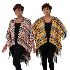 African Diva Shawl $7.95  Wrap up in cozy, soft sophistication every time you wear this African Diva poncho. C-WS830
