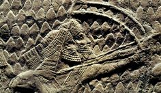 Detail from the Lachish Relief, found in the Assyrian king Sennacherib's Great Palace at Nineveh (around 700-680 BCE).  The British Museum, London, UK
