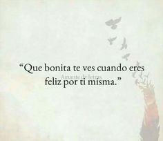 Amate! Es el primer paso para una vida feliz #vida #frases