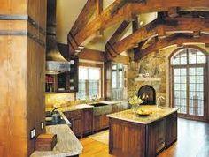 nice log cabin kitchen...
