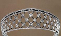 Diamond & Onyx tiara - Chaumet