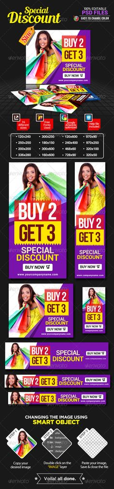 Discount Sale Banners Template PSD | Buy and Download: http://graphicriver.net/item/discount-sale-banners-/7428359?WT.ac=category_thumb&WT.z_author=BannerDesignCo&ref=ksioks