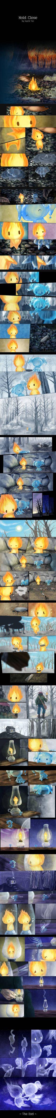 手もつなぐことができない、火と水のお話。   ひらめき箱