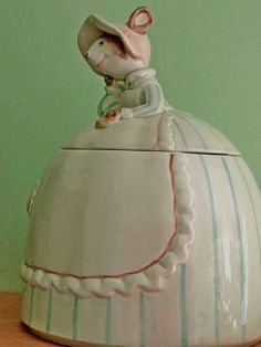 Vintage Mouse Cookie Jar Fitz and Floyd 1983 Candy by FloralStreet, $23.00