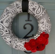 Bandanna Wreath -  two of  my loves put together <3