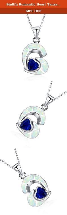 Sinlifu Romantic Heart Tanzanite & White Opal Gemstone Sterling Silver Open Heart Pendant Necklace Without Chain. 1.Company: A-shiny jewelry 2.Brand: Sinlifu 3.Nickel and lead: Free 4.Material: 925 sterling silver 5.Plating: Rhodium 6.Main Stone: Cubic zirconia ,opal 7.Color: White opal K17 & Blue Opal K5 8.Style/shape: Heart 9.Gender : Women 10.Status: 100% newly and high quality 11.Mold No: PSK5340A-P 13.All the valued customers are welcome to visit our store. 14.It is a good gift for…