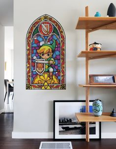 You asked and we answered. Your #1 requested wall decal - The Legend of Zelda - comes to Blik in eight stained glass wall decals based on artwork from The Legend of Zelda: The Wind Waker HD. This is a