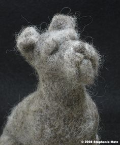 schnauzer felte wool - stephanie metz