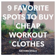 Favorite Places to Buy Cheap Workout Clothes - Fit Personality