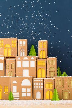 DIY: gift box village