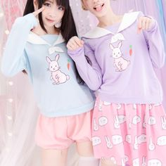 S/M/L Blue/Purple  As Cute as a Rabbit Jumper SP152248