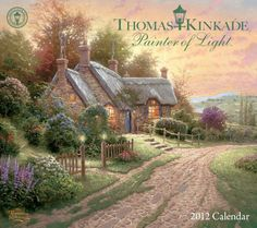 Thomas Kinkade Painter of Light: 2012 Wall Calendar $15.99