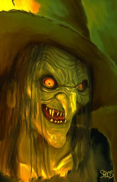 Monsters Painting - Witch Hag Mark Spears Monsters by Mark Spears