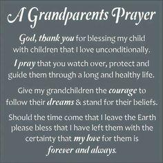 A Grandparents Prayer...