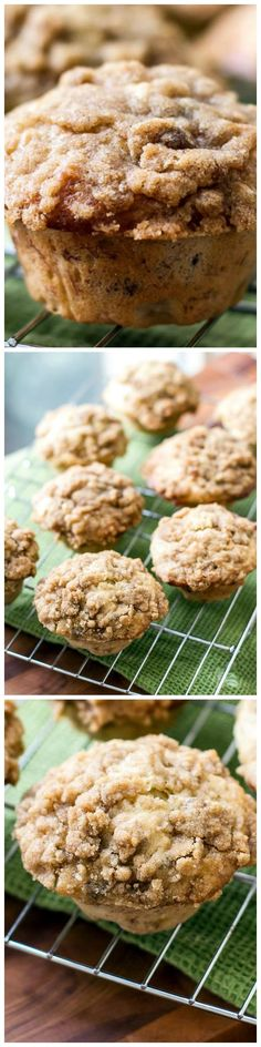 Delicious Banana Walnut Muffins with a streusal topping.