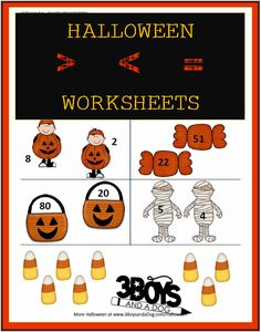 Halloween Printables:  Greater Than or Less Than